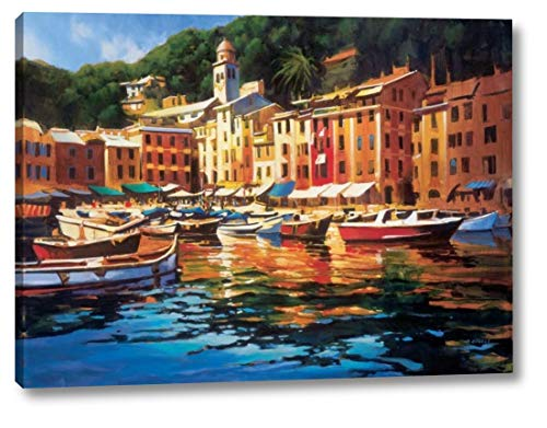 "Portofino Colors by Michael Otoole - 12"" x 16"" Canvas Art Print Gallery Wrapped - Ready to Hang"