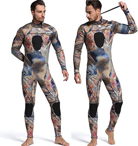 ZHANG Neoprenanzug Herren Spearfishing 3mm Neoprenanzüge Camouflage Neopren One Piece,B-Small