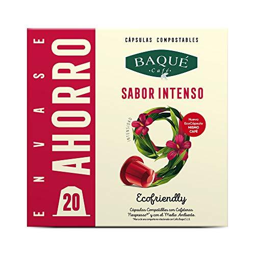 Cafés Baqué - 20 Capsulas Compatibles Nespresso Sabor Inte