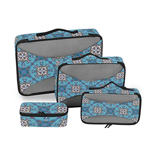 Geometric Abstract 4pcs Toiletry Bag for Men and Women Travel Organizer for Makeup and Toiletries Case for Cosmetics and Toilet Accessories