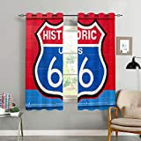 REFINE Blackout Curtains,Historic Route 66,Living Room,Bedroom,Curtain,Home Life,Decoration