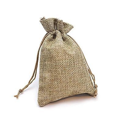 ◈Material:La pequeña bolsa de yute está hecha de lino natural de alta calidad y puede utilizarse durante mucho tiempo,Las saco de arpillera pequeño tienen una buena absorción de la humedad y transpirabilidad, y son muy ligeras. Material resistente y ...