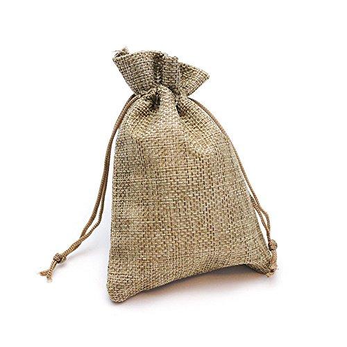 RUBY - 20 Bolsitas Saco de Yute para Regalo joyeria, bolsita para Regalo de Tela de arpillera, Bodas, comuniones, Saco Navidad, reuniones, artesanía, Bricolaje (23cm x 17cm)