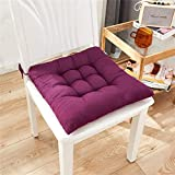 Musommer Chair Pads Seat Cushion with Ties Dining Room Kitchen Chair Cushions Outdoor Indoor Soft Thicken Comfy Seat Pads Cushion Pillow for Home Office Car Patio Furniture Garden Decoration
