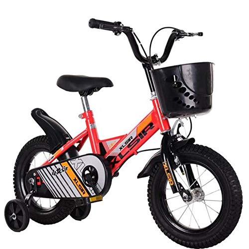 WYZXR Kid Balance Bike Sportfahrrad mit vorderem Korb Kinder Laufen Lernen mit Hilfsrad 12 Zoll