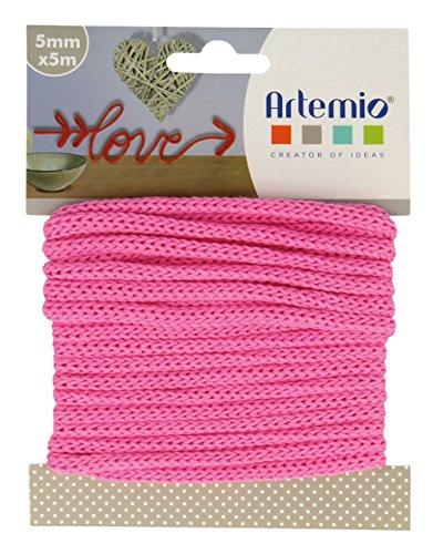 Artemio - Gomitolo di Filato per lavori a Maglia, 5 mm x 5 m, Colore: Fucsia