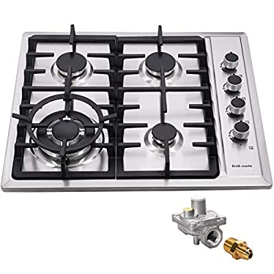 """24"""" Gas Cooktop Dual Fuel 4 Sealed Burners Stainless Steel drop-In Gas Hob DM425-SA01AZ Gas Cooker"""