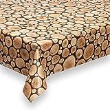 haga-wohnideen.de 1,4m² Wachstuchtischdecke Holz Schutzdecke PVC abwaschbar in 140cm Breite (Meterware)