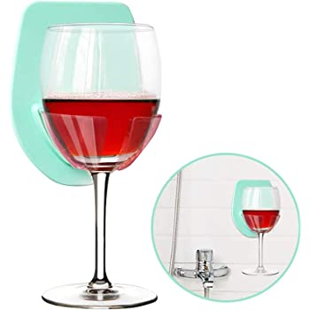 The Bathtub Wine Glass Holder is Relaxation Shower Gadgets! Suction Cup Drink Holder with Strong Suction Gray Silicone Wine Glass Holder for Bath /& Shower Wine Accessories for Wine /& Beer