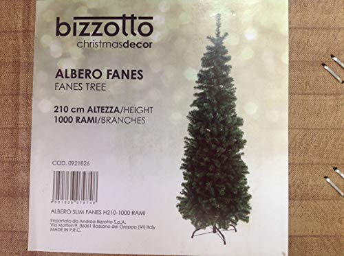 YES EVERYDAY Albero Slim Fanes H 210 cm- 1000 Rami, Verde, Taglia unica