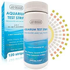 ✅ 6-WAY PARAMETER – The Aquarium Test Strips can test up to 6 parameters to make sure your aquarium water is in great condition: Nitrate, Chlorine, General Hardness, pH, Nitrite and Carbonate Alkalinity. Results are available in a matter of seconds! ...