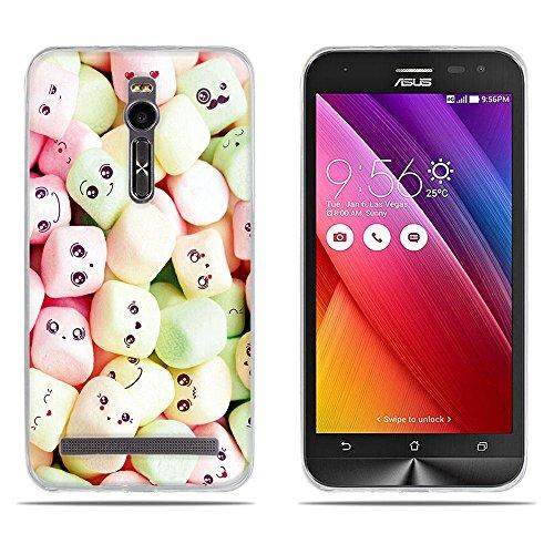 DIKAS für Asus ZenFone 2 ZE550ML Hülle, für Asus ZenFone 2 ZE551ML Tasche, Transparent Ultra Slim Etui Weich Flexibel Crystal Clear Premium TPU Silikon für Asus ZenFone 2 ZE550ML / ZE551ML - Pic: 07