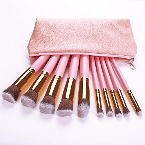 JinEamy-fr Arrivée 10/11/12/14 pcs/set pinceau de maquillage Set doux synthétique Cosmétiques cheveux teint en poudre fard à joues Blending Lady beauté Outils de maquillage