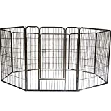 """QRDA 8-Panel Dog Pet Folding Metal Exercise Playpen,for Indoor and Outdoor 32'×39""""H"""