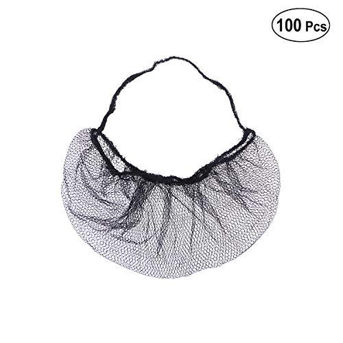 SUPVOX Protecteur de filet de barbe de nid d'abeilles de couverture de barbe jetable de 100pcs pour des services de service (noir)