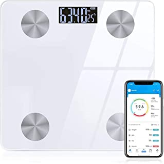 Sinocare Digital Bluetooth Body Fat Scale with APP, Smart Bathroom Scales Compatible with IOS/Android,for Body Weight,Body...