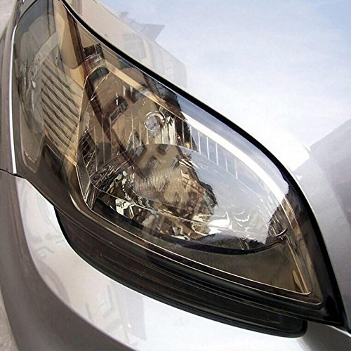 NewL 30cm x 150cm Autoadesivo auto Tint fari fanale posteriore Fendinebbia vinile fumo copertura foglio adesivo pellicola (nero chiaro)