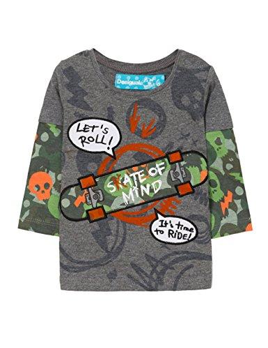 Desigual TS_Victor Camisa Manga Larga, Gris Metal 2031, 86 (Talla del Fabricante: 24) para Bebés