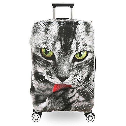 Elastisch Kofferschutzhülle mit Reißverschluss Katzen Tiere Kofferhülle Kofferbezug Reisekoffer Hülle Kofferschutz Gepäck Luggage Cover für 29-32 Zoll XL
