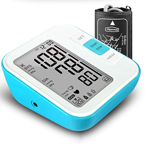 Bloeddrukmeter Voor De Bovenarm - Nauwkeurige Automatische Digitale BP Machine Voor Thuisgebruik & Pulse Rate Monitoring Meter Met Manchet, 120 Sets Memory