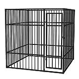 vidaXL Chenil Extérieur Robuste pour Chiens 2x2x2 m Acier Enclos Cage Jardin