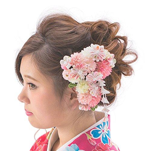 京のみやび『髪飾りかんざし・コーム・Uピン3点セット』