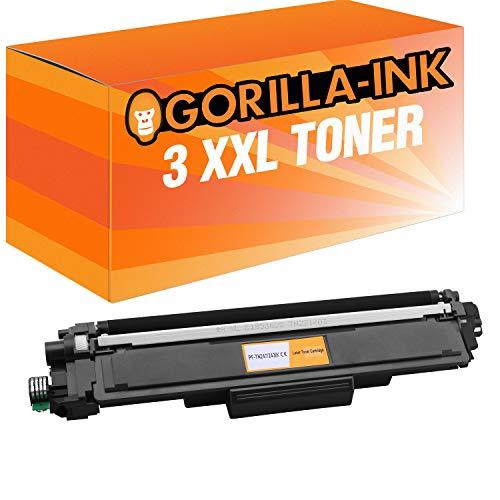 Gorilla-Ink 4 Toner XXL voor Brother TN-243 TN-247 DCP-L3510CDW DCP-L3550CDW HL-L3210CW HL-L3230CDW HL-L3270CDW MFC-L3710CW MFC-L3730CDN MFC-L3750CDW MFC-L3770CDW inclusief chip! (07) 2x Black
