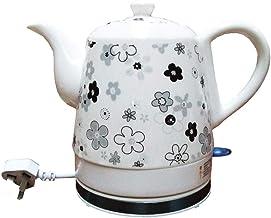 Elektrische keramische draadloze witte waterkoker theepot-retro 1l kan,1350w water snel voor thee,koffie,soep,havermout ve...