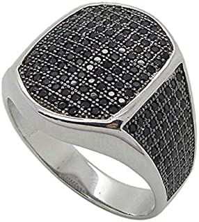 Atiq Black Rhodium Plated Sterling Silver Ring