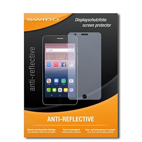 SWIDO Bildschirmschutz für Alcatel One Touch Pop Up [4 Stück] Anti-Reflex MATT Entspiegelnd, Hoher Festigkeitgrad, Schutz vor Kratzer/Glasfolie, Schutzfolie, Bildschirmschutzfolie, Panzerglas Folie