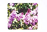 Lilac Flower Blossoms Design Mousepad, Hand Imprinted Photo