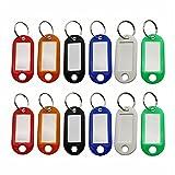 CINY 60 Stück Schlüsselanhänger mit Spaltring, Schlüsselringanhänger Schlüsseletiketten Kunststoff ID Tags Schlüsselringe Namensmarken Tags Gepäck ID Etiketten Kosename Memory Stick Tags (6 Farben)