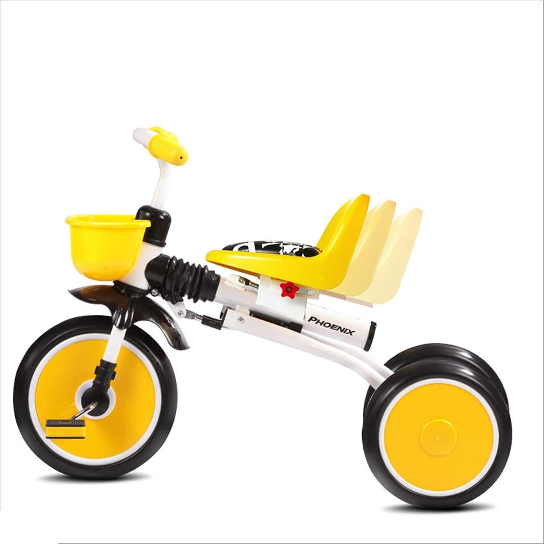 suministro directo de los fabricantes Zhijie 1-4 1-4 1-4 años de Edad, Niños, Pedales Plegables, triciclos, bebés, Niños, Niños pequeños, triciclos, Paseo en 3 Ruedas, Bicicleta, portátil, Ligero, Silla de Paseo Ajustable. (Color   blancoo)  ¡envío gratis!