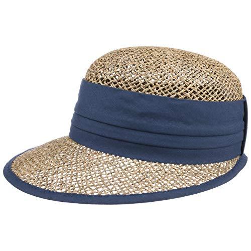 Seeberger Beach Summer Strohcap Sonnencap Strandcap (One Size - blau)