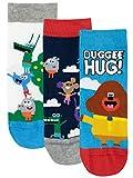 Hey Duggee Calcetines Paquete de 3 para Niños Club de las Ardillas Multicolor 37/40