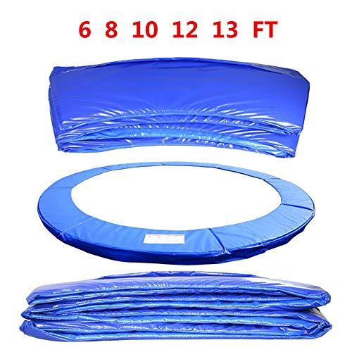 BIN Replacement Trampoline Surround Pad 6ft 8ft 10ft 12ft 13ft Foam Safety Guard Tear-Resistant Edge Protection Spring Cover Padding Pads,10ft