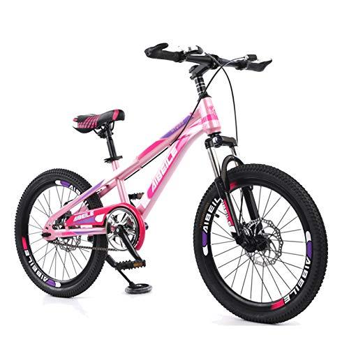 FUFU Bicicletas Niños De Pedales, Niños Y Niñas, Marco De Acero De Alto Carbono, Frenos, Llantas De 18 Pulgadas, 4 Colores (Color : Pink)