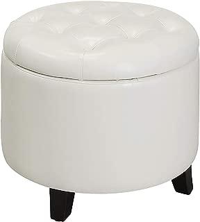 Convenience Concepts Designs4Comfort Storage Ottoman, White