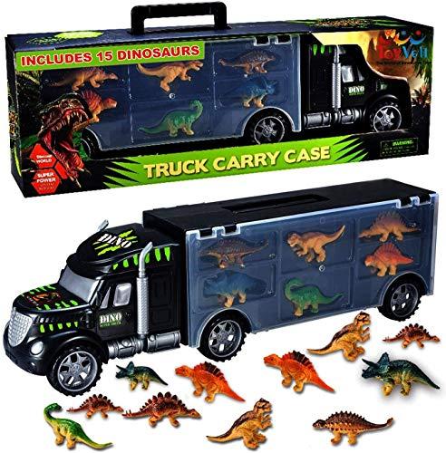 Toyvelt Dinosaurs Transport Car Carrier Truck Toy with Dinosaur Toys Inside...
