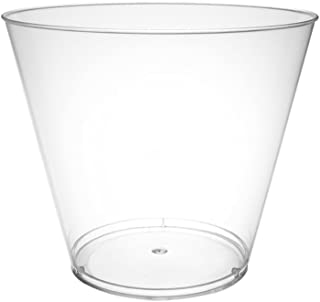 Party Essentials Hard Plastic 5-Ounce Party Cups/Tumblers, 200-Count, Clear