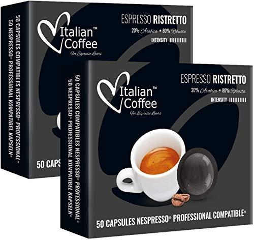 100 Capsulas Nespresso Profesional - Ristretto - Capsulas Ne