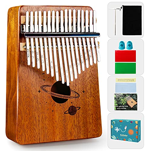 Chrider Kalimba Thumb Piano 17 Keys, Finger Piano Easy to Learn Portable Mbira Include Tune Hammer and Study Instruction, Gift for Kids Adult Beginners Professional.