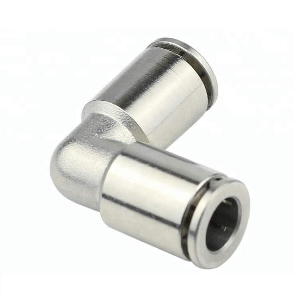 Beduan Pneumatic Air Brass Push to Connect Fittings 1//2 Tube OD Elbow Connector Push Lock Union Fitting