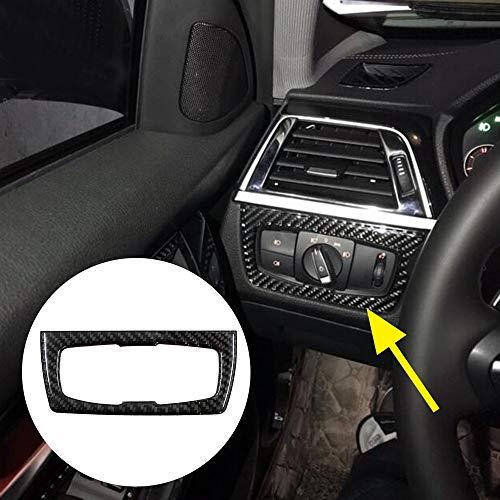 Carbon fiber style Headlight Switch Button Trim Frame Sticker For BMW 3 4 Series F30 F32 Car Interior Accessories