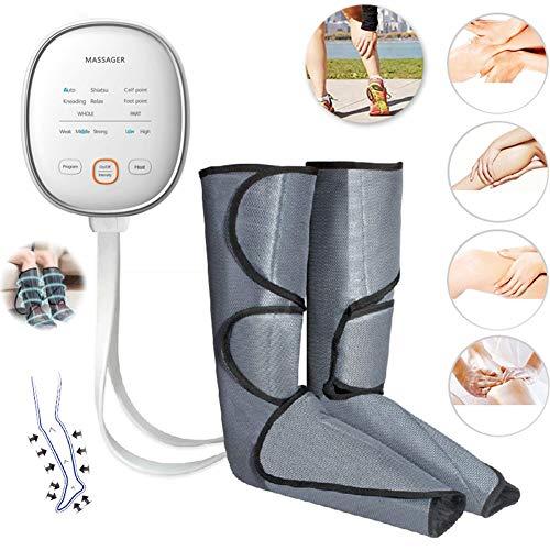 ZMIN Beine Massagegerät Fußmassagegerät Kompressionsmassage mit 3 Luftdruckintensitäten 6 Massagemodi für Waden und Füße zur Linderung Wadenschmerzen