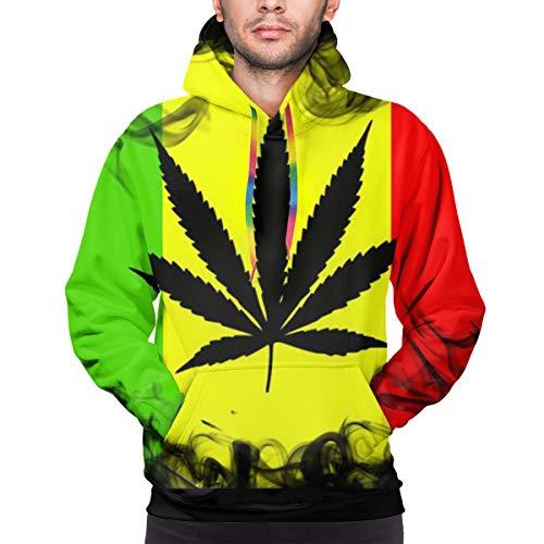 Green Haoke Rasta Marihuana Unisex Daily Wear Pullover Bedrucktes Hoodie Sweatshirt mit Tasche XXL