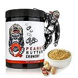 Q Gorilla Mantequilla de cacahuete 1kg   Crujiente, 100% cacahuetes, sin sal agregada, sin azúcar agregada, apto para veganos, sin aceite de palma 1kg