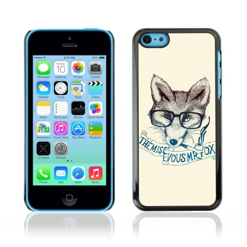 CelebrityCase Polycarbonate Hard Back Case Cover for Apple iPhone 5C ( Clever Cute Fox )