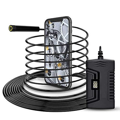 Endoscopio, WiFi Boroscopio Cámara de Inspección, 2.0 Megapíxeles Pixeles 1080P HD 2600mAh Batería, 5.5mm Impermeable Camara Endoscopica para iOS, Android, iPhone Smartphone/Tableta,3.5m