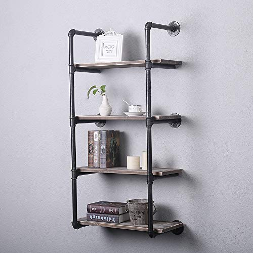 SONGMICS 100% 5-Tier Bamboo Bathroom Shelf, Narrow Shelving Unit, Multifunctional Storage Rack, Wood Corner Rack, for Kitchen, Livingroom, Bedroom, Hallway Natural UBCB55Y